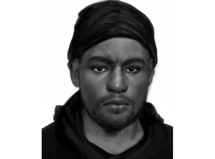 A sketch of the assailant that sexually assaulted three women in San Marcos