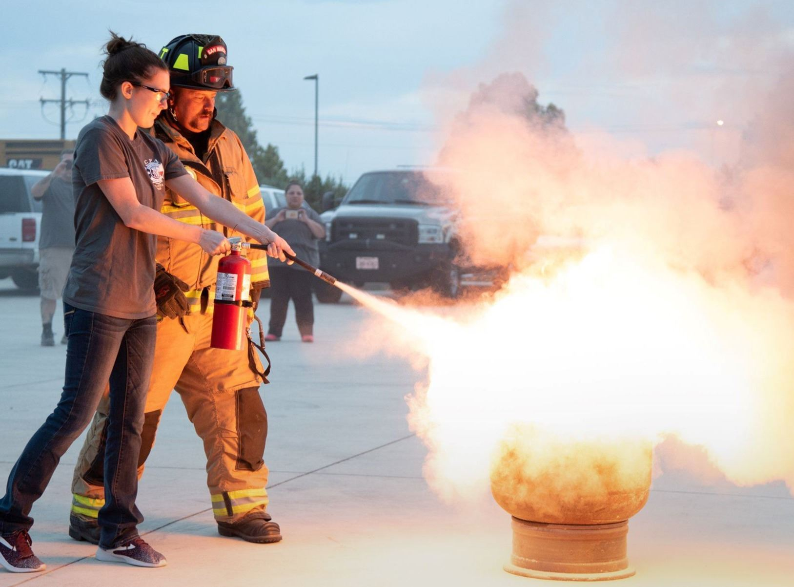 2018 Cadets learn about fire extinguisher safety