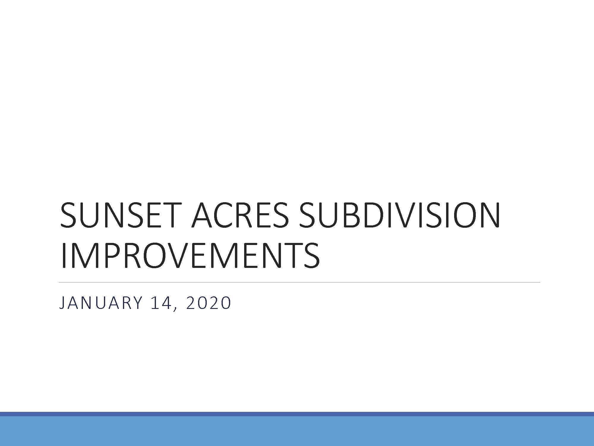 Pages from SUNSET ACRES SUBDIVISION IMPROVEMENTS