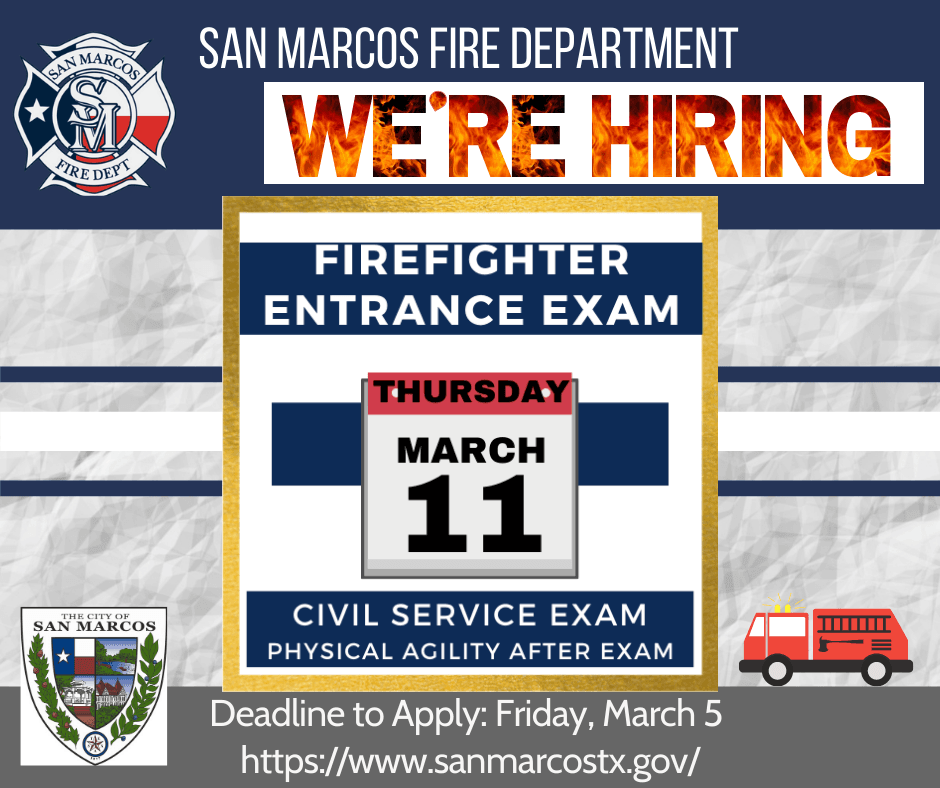 SMFD Hiring - Rescheduled March 11 2021 Logo