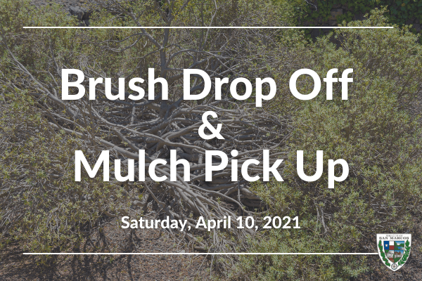 Brush Drop Off Mulch Pick Up