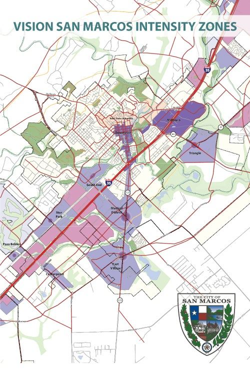 Vision San Marcos Intensity Zones Map