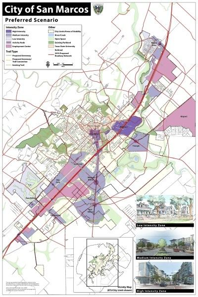City of San Marcos Preferred Scenario Map