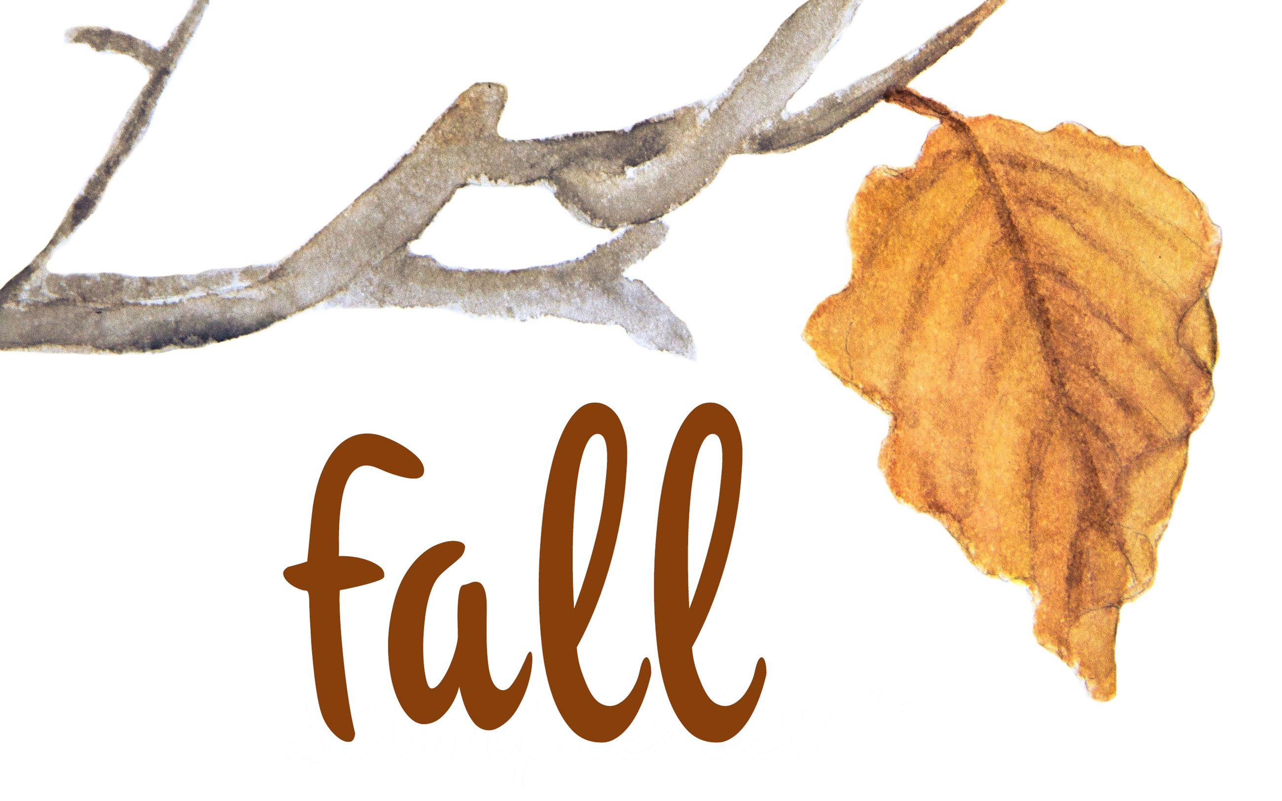 Fall graphic-watercolor leaf