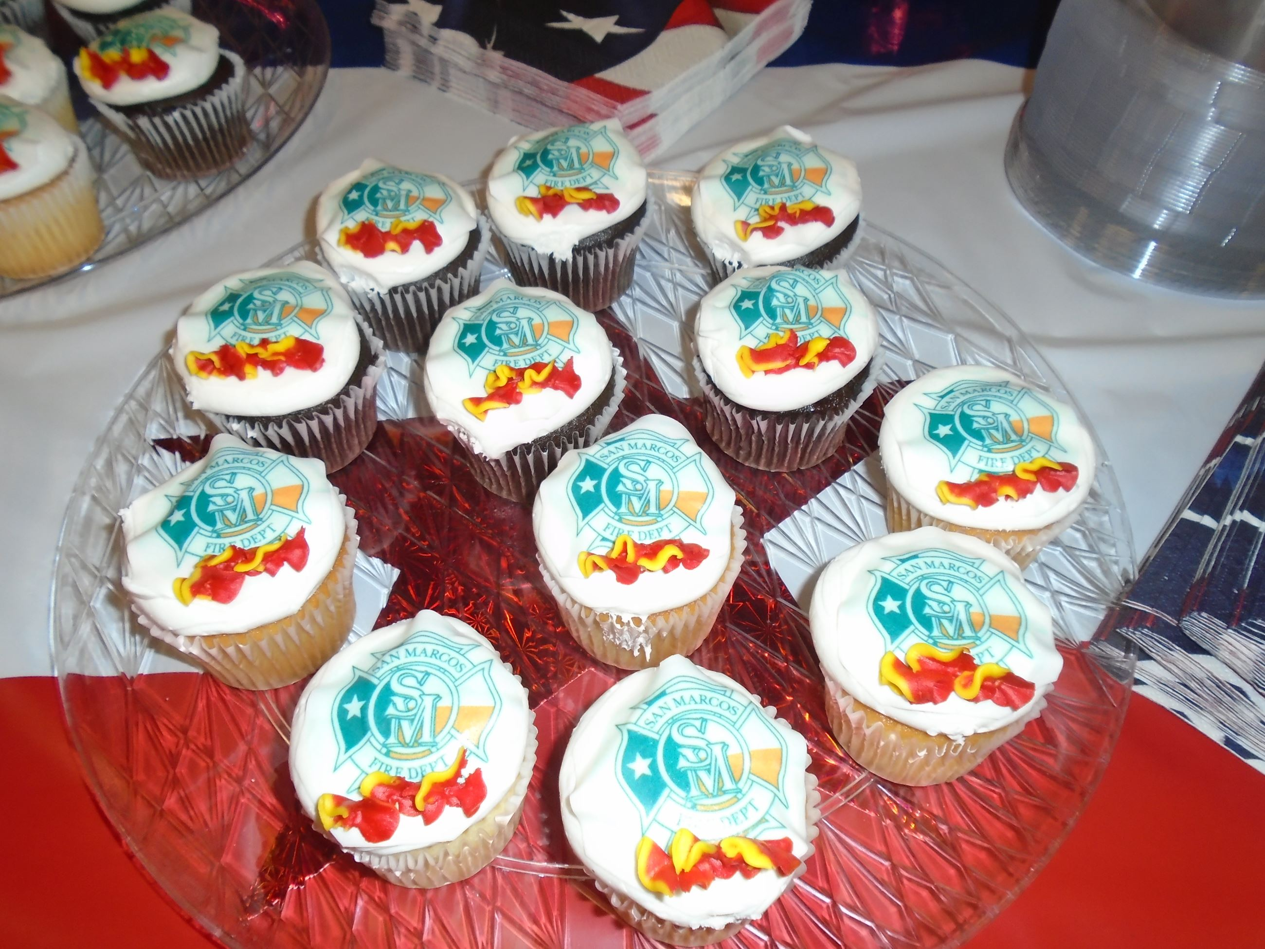 Custom designed cupcakes for award ceremony.