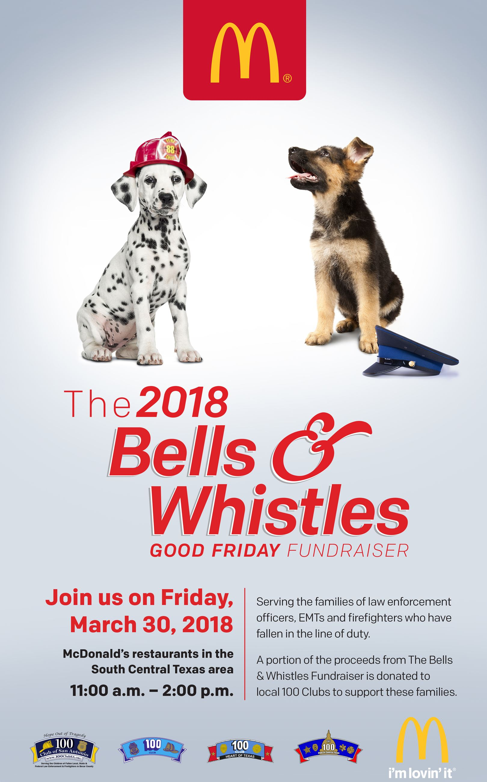 100 Club Bells and Whistles Poster 2018