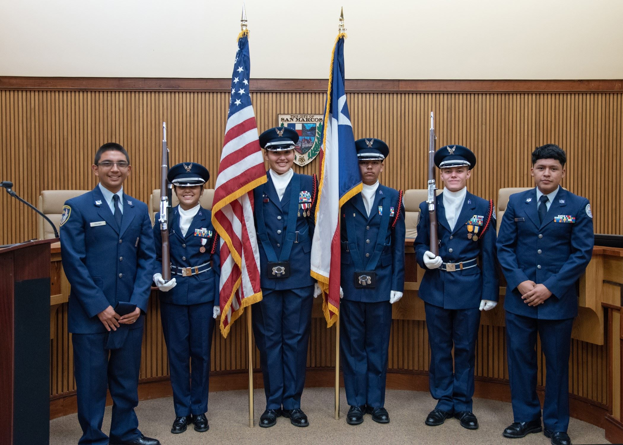 JR ROTC Color Guard