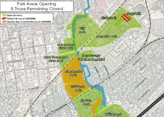 Map of Park Opening Plans