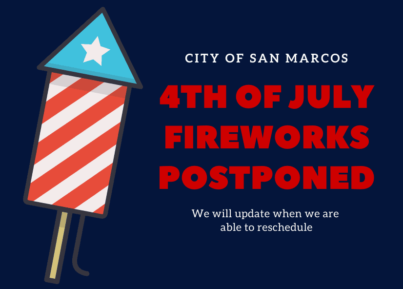 Fireworks Announcement Graphic