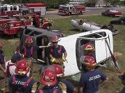 Firefighters Practicing Extrication