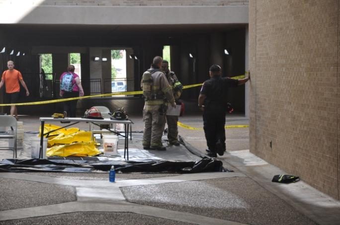Firefighters Doing Hazardous Materials Training