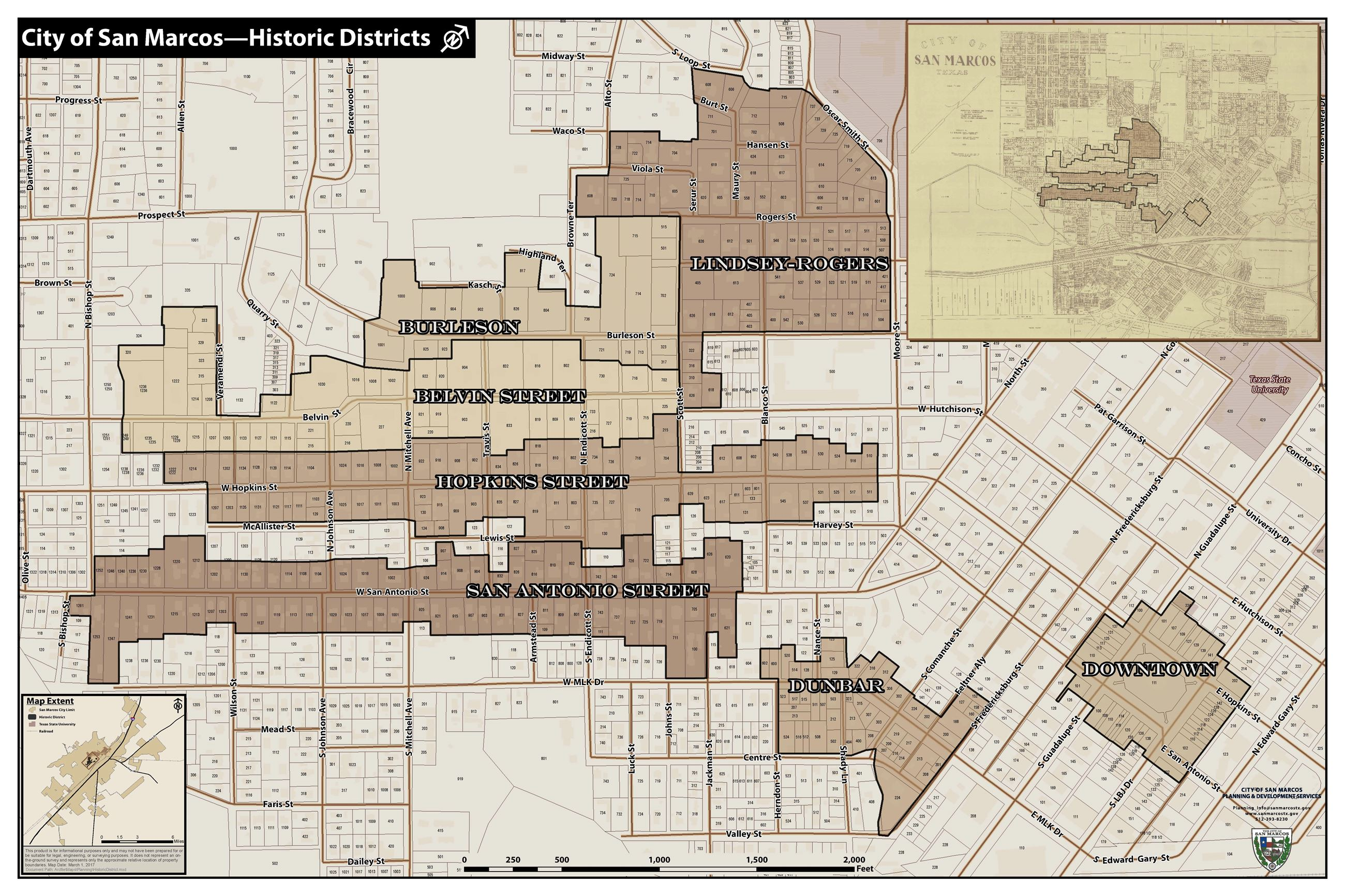 Historic Districts Map 2017 (PDF)