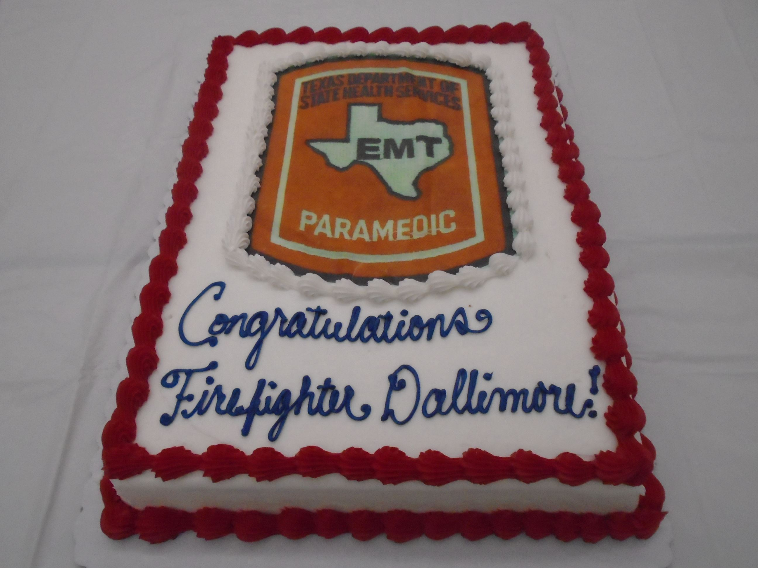 City of san marcos tx custom cake ordered to celebrate firefighters paramedic certification 1betcityfo Images