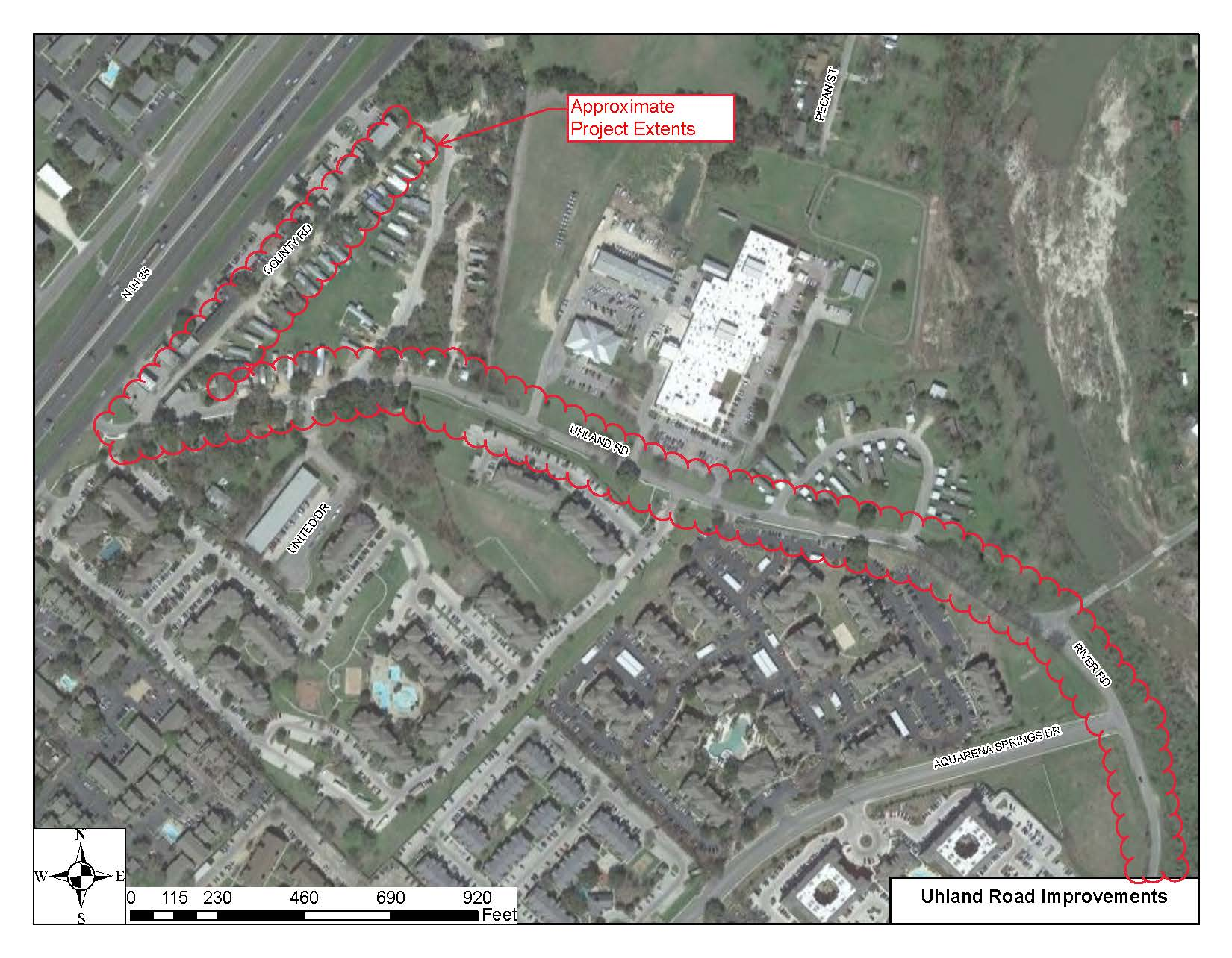 Uhland Road Project Map