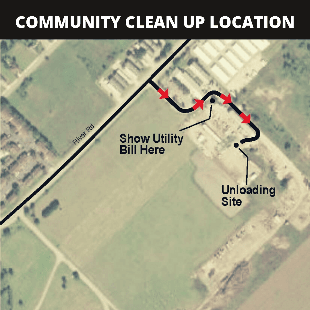 Community Clean Up Location Map