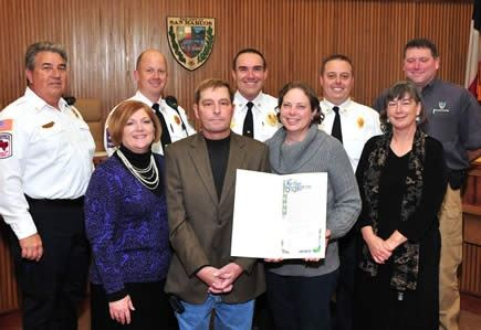 Battalion Chief Kelly Metz Honored